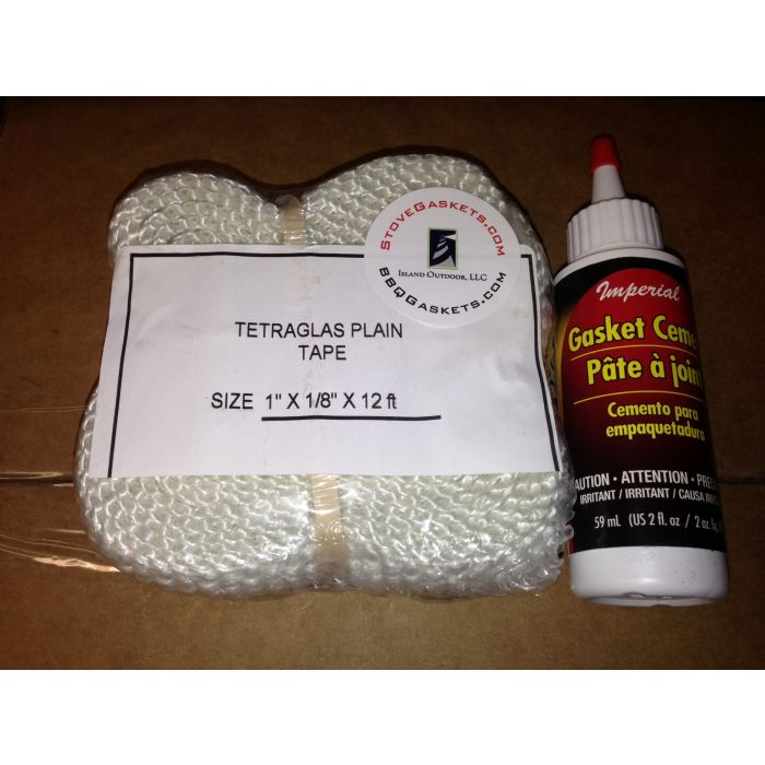 Flat fiberglass gasket kit with Imperial glue