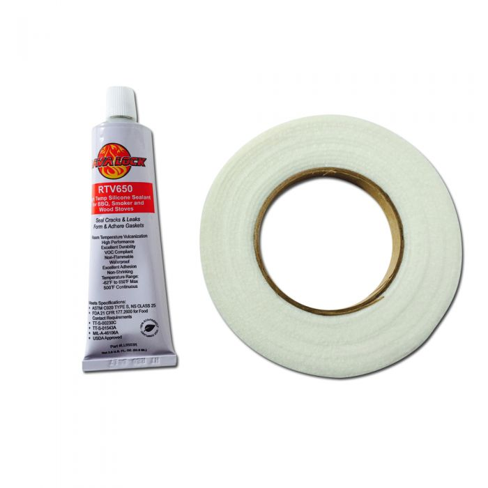 Dupont™ Nomex® gasket 800F w/ food grade RTV red slicon