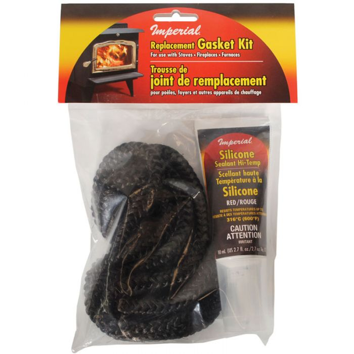 Imperial Black Rope Gasket Kit w/ Silicon Adhesive